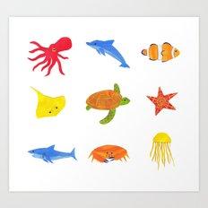 Sea Life! Art Print