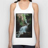 alaska Tank Tops featuring Alaska Waterfall by Leah Flores