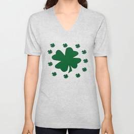 St. Patrick's Day Lucky Clovers Unisex V-Neck