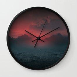 Between the grey & purple Wall Clock