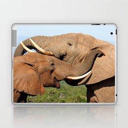 Elephant love, Africa wildlife Laptop & iPad Skin
