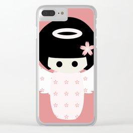 Angel Kokeshi Clear iPhone Case