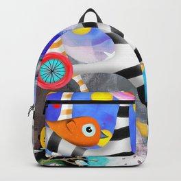 Brainwashing - Good bye Sozialismus - Floating Ideas - BIRDS STRIPED TREE Backpack