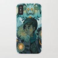 gundam iPhone & iPod Cases featuring Aztec Gundam by CKellyIllustration
