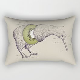 Kiwi Anatomy Rectangular Pillow