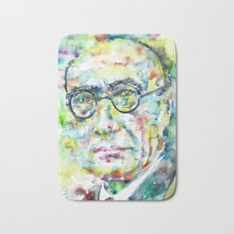 ANDRE GIDE - watercolor portrait.1 Bath Mat