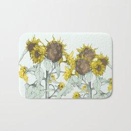 The sunflower brigade Bath Mat