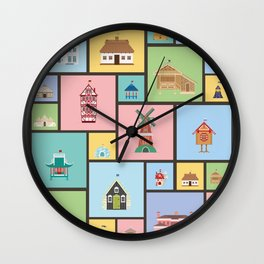 Houses of the World Wall Clock
