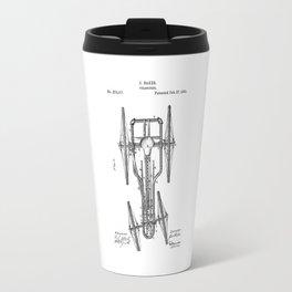 patent art Baker Velocipede 1883 Travel Mug