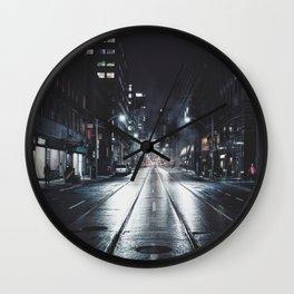 Night Ave Wall Clock