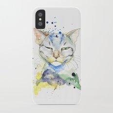 Suspicious Cat iPhone X Slim Case