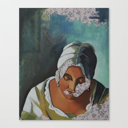 After: Woman Writing a Letter with her Maid Canvas Print