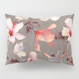 Coral Hibiscus Pillow Sham