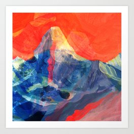 Abstract Mt. Everest Art Print