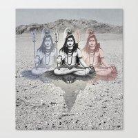 shiva Canvas Prints featuring Shiva by Jonnea Herman
