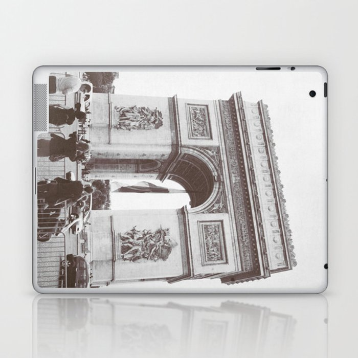 SALE, PARIS Italy Photography, Set of 4 Prints, Travel Decor, Black and White, Colosseum, ART Laptop & iPad Skin
