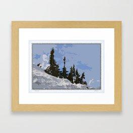 WINTER SPIRES Framed Art Print