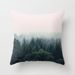 Between every two pines is a doorway to a new world Throw Pillow
