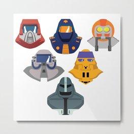 MASK masks Metal Print