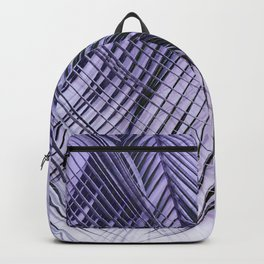 Palm Leaves On A Violet Background #decor #society6 #buyart Backpack