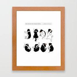 Cavalier King Charles Spaniel Sleep Study Art Print. Black & Tan. Illustrations Framed Art Print
