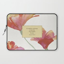 It would be a privelege...Augustus Waters. The Fault in Our Stars. Laptop Sleeve