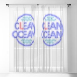 Clean Ocean – Solo Sheer Curtain