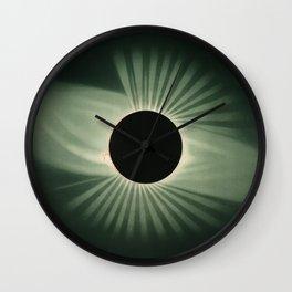 Vintage Eclipse Illustration Wall Clock