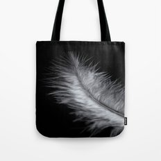 feather in white Tote Bag