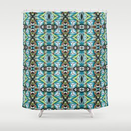 Teleports Pattern I Shower Curtain