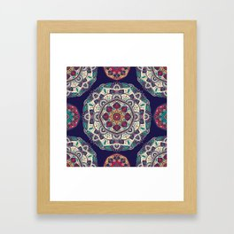 Colorful Mandala Pattern 007 Framed Art Print