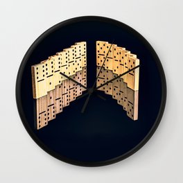 Domino effect Wall Clock