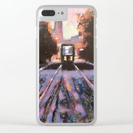 Warsaw Tram Clear iPhone Case