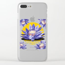 Yoga-Lotus Flower Expect Nothing Appreciate Everything Clear iPhone Case
