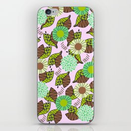 Atypical leaves and flowers iPhone Skin