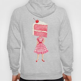 Cake Head Pin-Up - Cherry Hoody