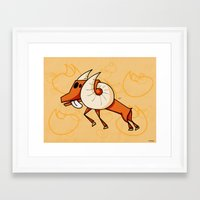 aries Framed Art Prints featuring Aries by Giuseppe Lentini