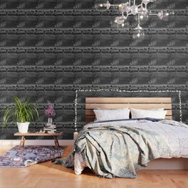 Broken Glass Sky - Black and White Version Wallpaper