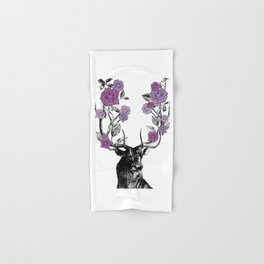 The Stag and Roses | Lilac | Purple Hand & Bath Towel