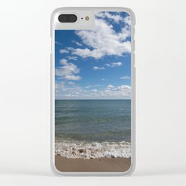Lake Michigan Waves Clear iPhone Case