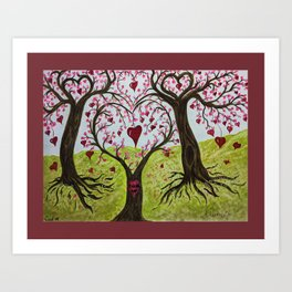 Heart Themed- 'Tree of Hearts for heroes' Art Print