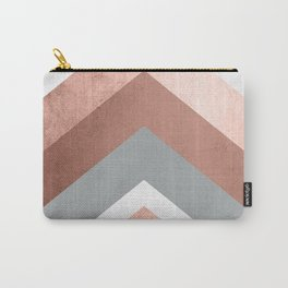 Grey, Bronze Chevron Home Decor Design Carry-All Pouch