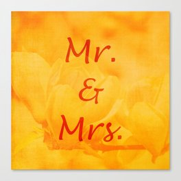 Mr. and Mrs. Canvas Print
