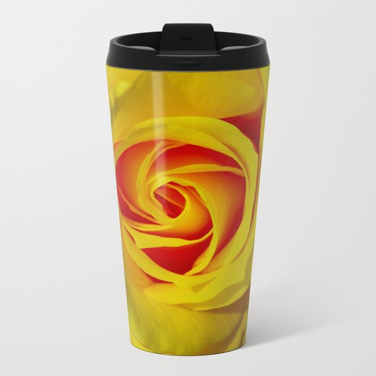 Abstract in Perfection - Rose Metal Travel Mug