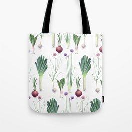 Edible Alliums Tote Bag