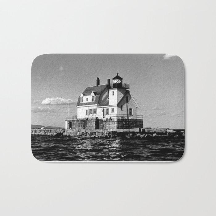 Rockland Harbor Breakwater Lighthouse  Bath Mat