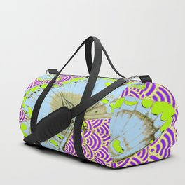 CHARTREUSE-WHITE EXOTIC BUTTERFLY Duffle Bag