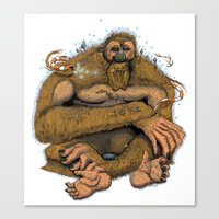 sasquatch Canvas Prints featuring Sasquatch by Gregery Miller