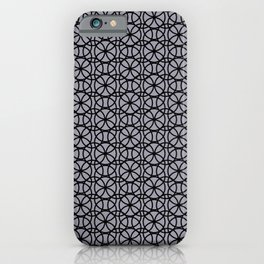 Pantone Lilac Gray and Black Rings Circle Heaven, Overlapping Ring Design iPhone Case
