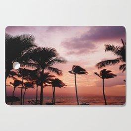 Palm Tree Sunset Cutting Board